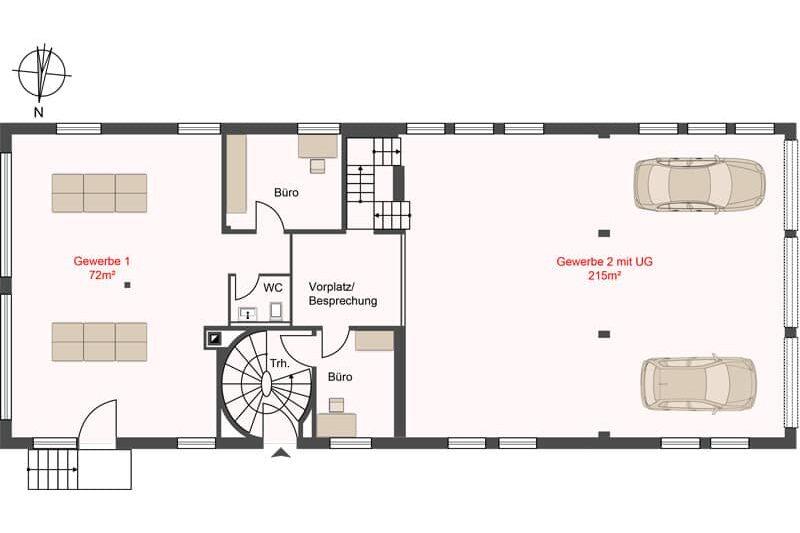 Erdgeschoss Verkauf Gewerbehaus mit Wohnunge in Schlieren
