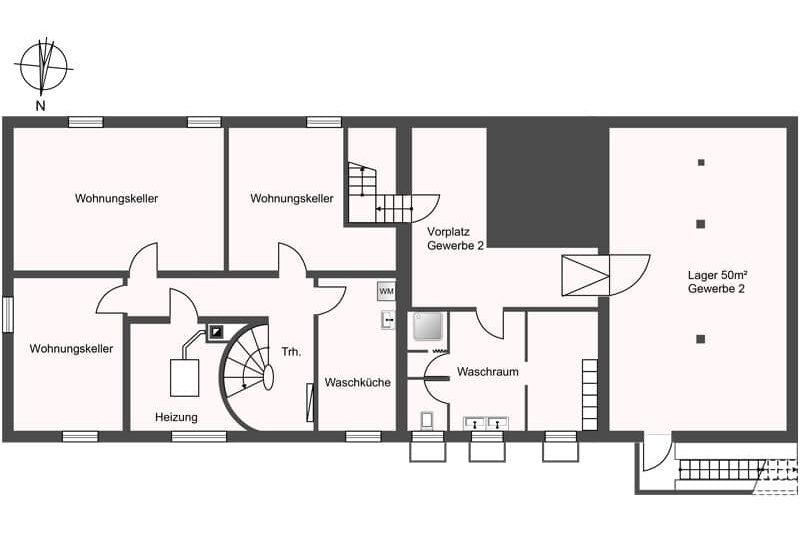 Untergeschoss Verkauf Gewerbehaus mit Wohnunge in Schlieren